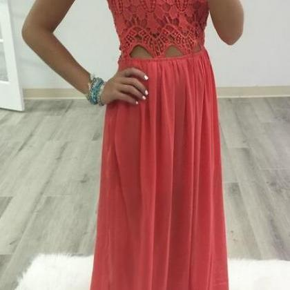 Simple Lace Prom Dress,Cheap Long P..