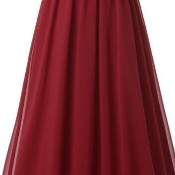 Beauty Burgundy Prom Dress,A line C..