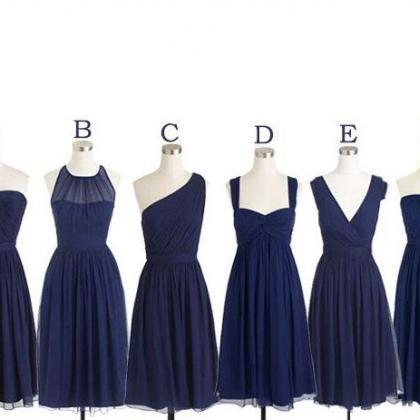 Navy Blue Bridesmaid Dress,Cheap Pr..