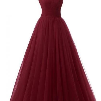 Sexy Burgundy Prom Dresses, Red Eve..
