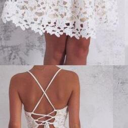 Spaghetti Straps Lace Homecoming Dr..