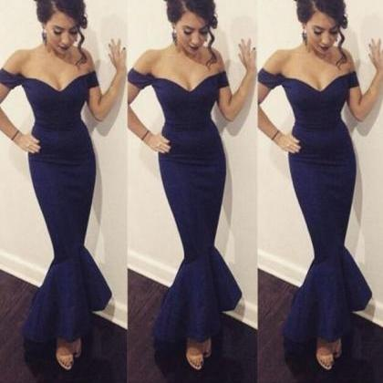 Navy Blue Prom Dress,Sexy Prom Dres..