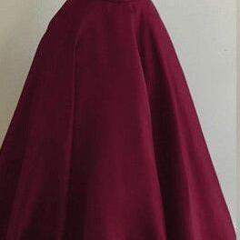 Burgundy Prom Dress,Simple Prom Dre..