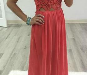 Simple Lace Prom Dre..