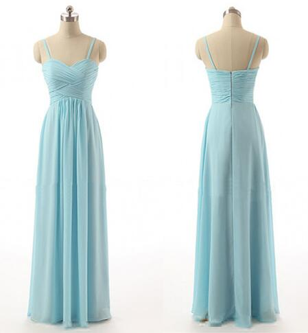 Spaghetti Straps Pregnant Bridesmaid Dresses Ice Blue Chiffon Empire Waist Dress Custom Made Maternity Gown