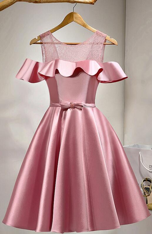 3b13c9c229a38 Stain Prom Dress,Cheap Pink Homecoming Dresses,Short Prom Dresses,Girls  Cocktail Dress,Homecoming Dress,Graduation Dress,Cute Party Dress,Short  Homecoming ...