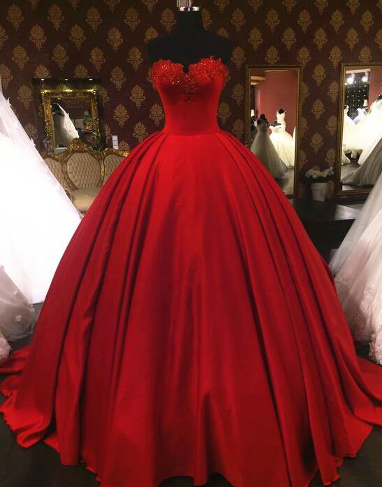 Sweetheart Prom Dresses,Stain Prom Dress,Wine Red Prom Dresses,Ball Gown Prom Dresses,Lace Formal Dresses,Appliqués Prom Dress,Red Quinceanera Dress,Princess Quinceanera Dresses