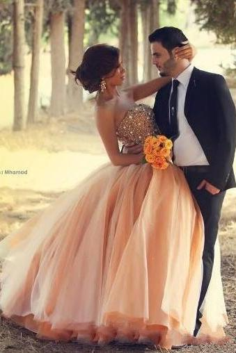 Beading Ball Gown Wedding Dresses,Cheap Wedding Dress,Floor-Length Wedding Dresses,Wedding Dresses,Sweet 16 dresses,Graduation Gowns, prom Dresses