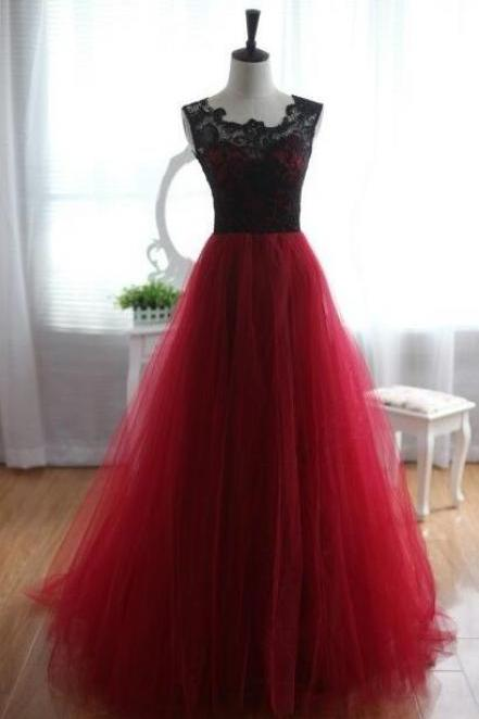 Sexy Ball Gown Burgundy Prom Dresses,Floor-Length Prom Dresses,Sweet 16 dresses,Graduation Gowns, prom Dresses