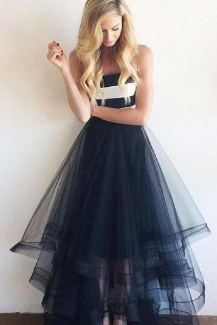Charming Long prom Dress,Long Evening Dress,Tulle Prom Dresses Fashion party Dresses