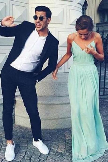 Simple Prom Dress,V neck Prom Dress,Bridesmaid Dress,Mint Prom Dresses,A Line Prom Dresses,Sexy Evening Dress,Formal Evening Dresses, Prom Dress