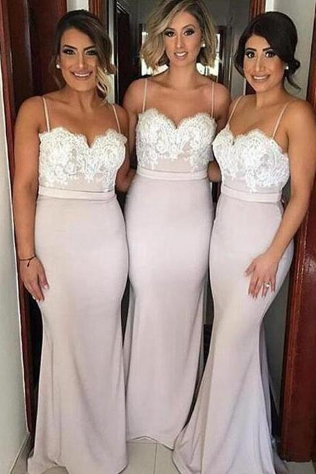 Custom Made Lace Sweetheart Neckline Long Mermaid Evening Dress, Prom Dresses, Bridesmaid Dresses, Bridal Collection