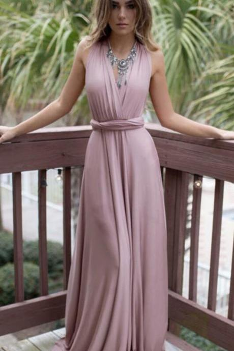 Simple Chiffon Prom Dress,Long Prom Dresses,Cheap prom Dress, V-neck Prom Dresses,A Line Prom Dress,Backless Prom Dresses,Prom Dresses 2018