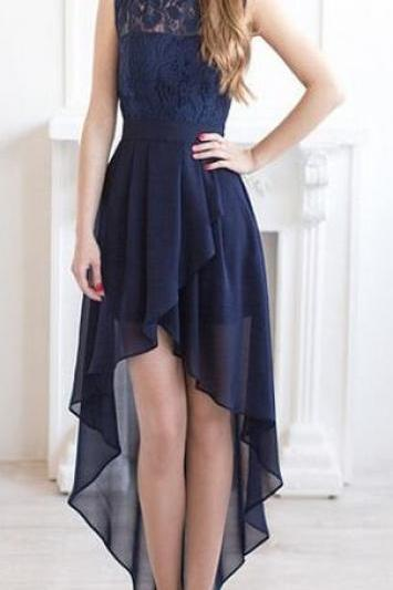 Long Cheap Bridesmaid Dress,High low bridesmaid dresses, navy blue bridesmaid dresses, Chiffon Bridesmaid Dresses,chiffon Bridesmaid Dress,lace Bridesmaid Dresses