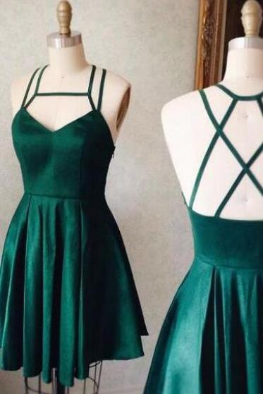 Sexy Halter Homecoming Dresses,Cheap Homecoming Dress,Emerald Green Prom Dresses,Backless Homecoming Dress,Short Prom Dress,Cute Party Dress, Graduation Dresses,Short Prom Dresses