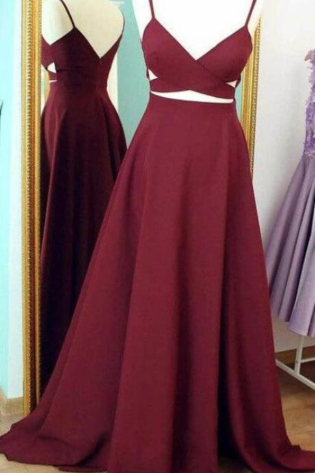 Elegant burgundy Prom Dress ,Sexy satin Homecoming Prom Dress,Prom Dresses, Long Prom Dresses,new Prom Gowns