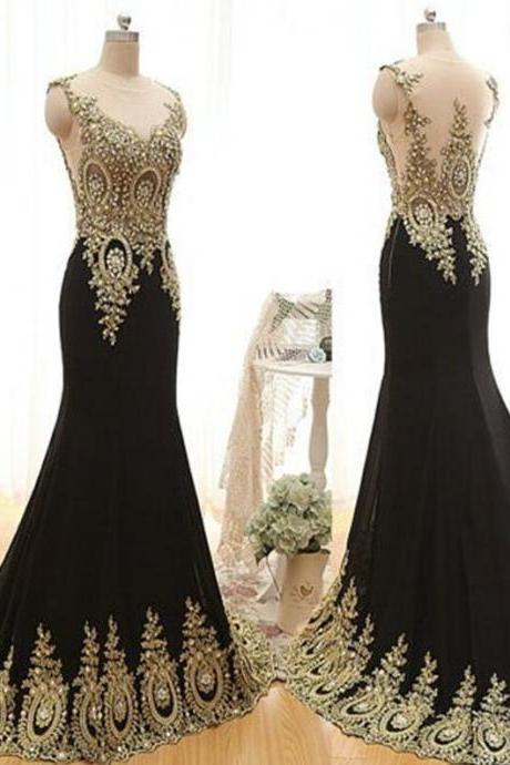 Mermaid Long Prom/Evening Dress,Beading Prom Dress,Cheap Prom Dress,Sexy Evening Dresses,Formal Mermaid Evening Gowns