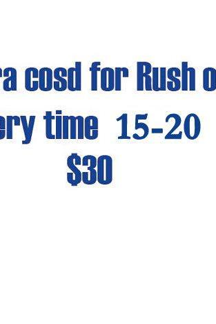 Extra Cost Of Rush Order Delivery time is within 15 days