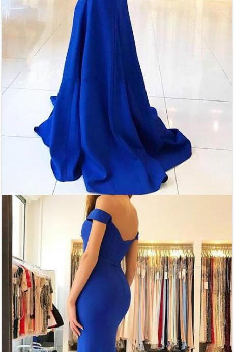 Royal Blue Prom Dress,Cheap Stain prom Dress,Mermaid Prom Dresses, Sexy Prom Dress,Sweetheart Prom Dresses, Long Prom Dresses , Prom Dresses for Woman, Long Jersey Evening Gowns