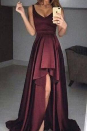 simple prom dresses,burgundy evening gowns,sexy prom dress,elegant prom dress,formal party dresses,fashion prom dresses