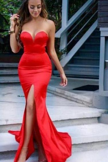 Red Prom Dress,Sexy Evening Gown,A Line Prom Dress,Sexy Prom Dresses,Long Formal Dress,Prom Gowns