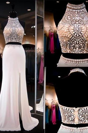 Beading Prom Dress,Cheap Prom Dress,Stain prom Dress,Two Piece Prom Dresses,Evening Gowns,2 Pieces Party Dresses,Evening Gowns,Sparkle Formal Dress For Teens