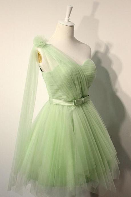 Charming Prom Dress,Simple prom Dress,Tulle Prom Dress,Cheap Prom Dress,Cute Prom Gown,Organza Mini Prom Dress
