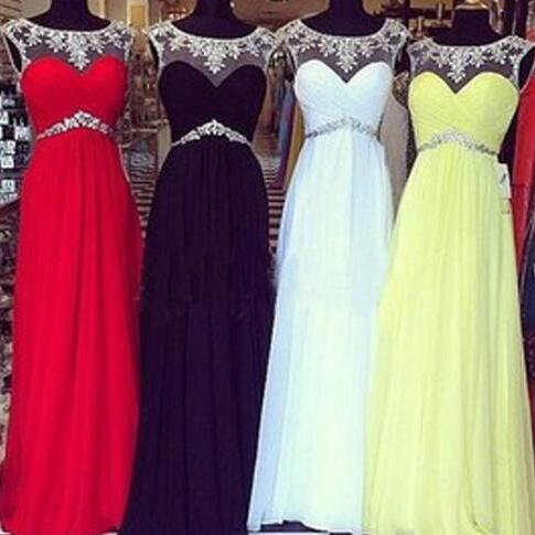 Beading Sexy Prom Dress, Cheap Long Prom Dress, Long Backless Prom Dress, Formal Prom Dress ,Chiffon Prom Dress, Cheap Prom Dress