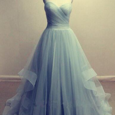 Tulle Sweetheart Floor Length Ball Gown, Prom Gown, Formal Gown