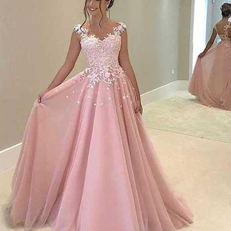 Princess Prom Dresses,Pink Prom Dresses,Ball Gown Prom Dress,Sexy Prom Dress,Long Evening Dress Prom Gowns, Formal Women Dress,prom dress 2018