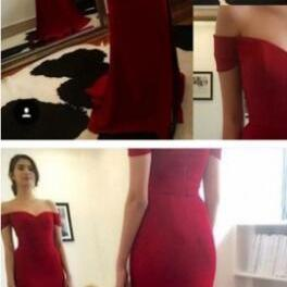 Simple Prom Dress,Mermaid Prom Dress,Fashion Red Prom Dress,Cheap Prom Dress,Sexy Party Dress, New Style Evening Dress