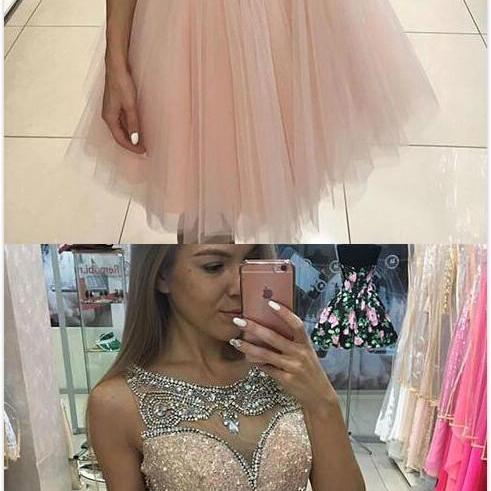 Short homecoming dresses,pink tulle Homecoming Dress,Cheap Prom Dress,short prom dress for teens, pink homecoming dress