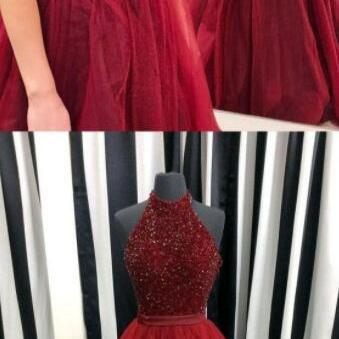 long burgundy prom dresses,prom dresses for teens,cheap prom dress,tulle prom dress,prom dress 2018