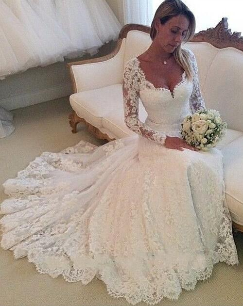 A Line Princess Wedding Dresscheap Wedding Dress Lace Wedding